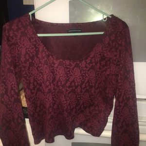 Maroon American Eagle Crop Top