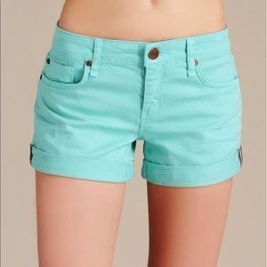 Sanctuary Denim Turquoise Shorts