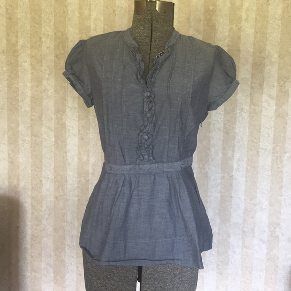 Merona Tops - Gray cotton peplum top