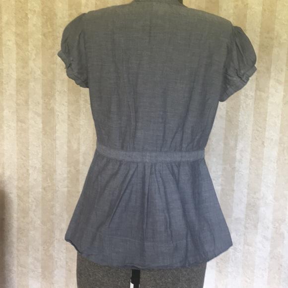Merona Tops - Gray cotton peplum top