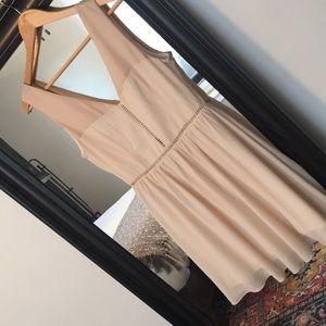 Blush Chiffon Low Back Dress