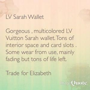 Handbags - Wallet trade for Elizabeth