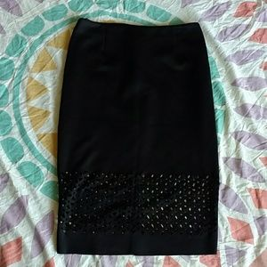 Pencil skirt with cut out design
