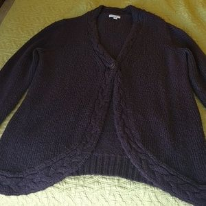 Purple women's sweater/cover up size XXL