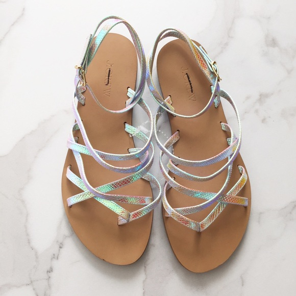 b8b33b9dac96 J. Crew Shoes - J. Crew Clara iridescent sandals
