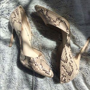 Faux snake skin Heels