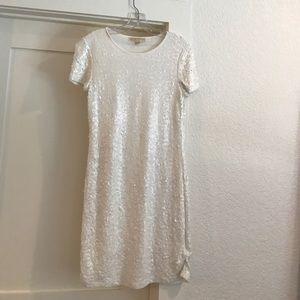 Michael Kors white sequin dress