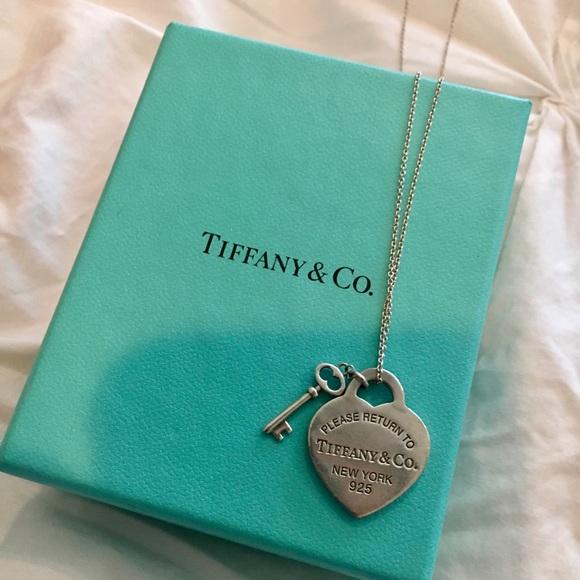 4ac4a5849fde Tiffany   Co. Heart Tag with Key Pendant. M 59b42754a88e7d24c8006be7
