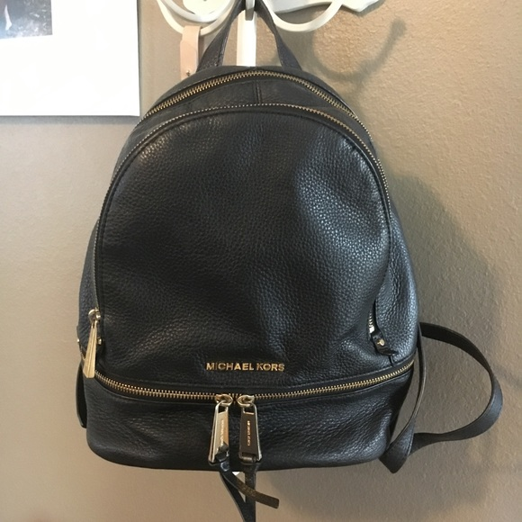 Michael Kors Rhea Medium Leather Backpack. M 59b4290b99086acfb100663c 4a880c5bb3d6f