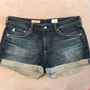 AG Denim Shorts. Ex Boyfriend roll-up. Size 30.