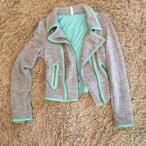 Grey-Seafoam Trendy Jacket