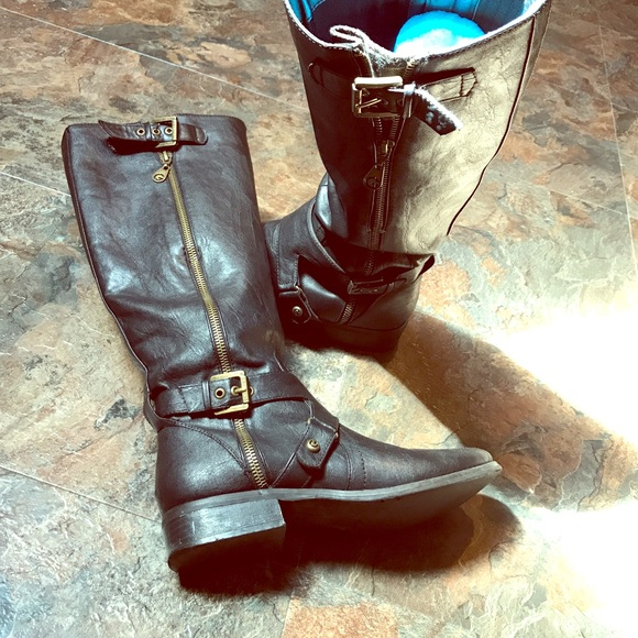 Tall Black Guess Boots
