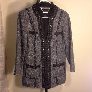CC style boulce rope trim jacket