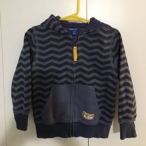 Naartjie kids navy chevron full zip Toddler hoodie