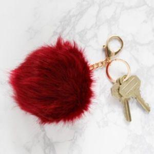 jack & lucy • faux fur pom keychain