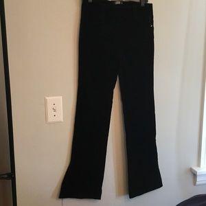 Laundry by Shelli Segal low rise black velvet pant
