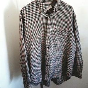 J.Crew 1990S houndstooth cotton flannel shirt