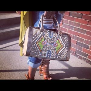 NICOLE LEE PEARLS AND BLING BAG