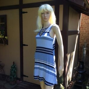 🌞STRIPED CRISSCROSS DRESS FROM MACYS SZ S