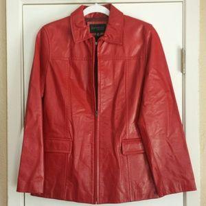 Express Vintage Red Leather Jacket
