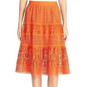 Diane von furstenberg Tiana Lace Midi Skirt size 8