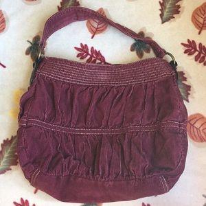 Burgundy Hobo bag