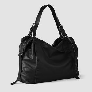 All Saints Darling Bowling Bag 100% Leather Duffle