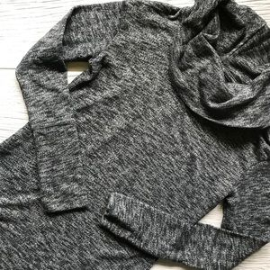 Merona Tunic Length Cowl Neck Sweater