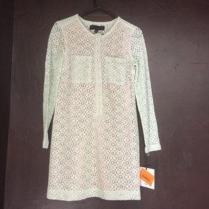 NEW! Mint Green Victoria Beckham Lace Shift Dress