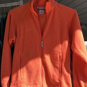 Columbia Orange Fleece Jacket Size S