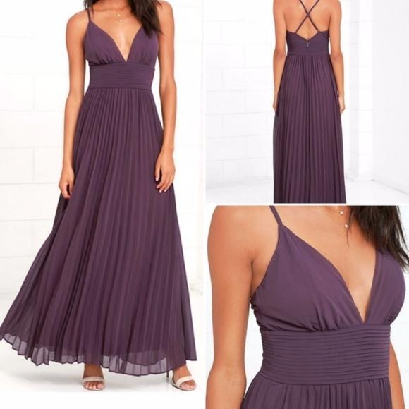6665e3d79a Lulu s Depths of My Love dusty purple maxi dress