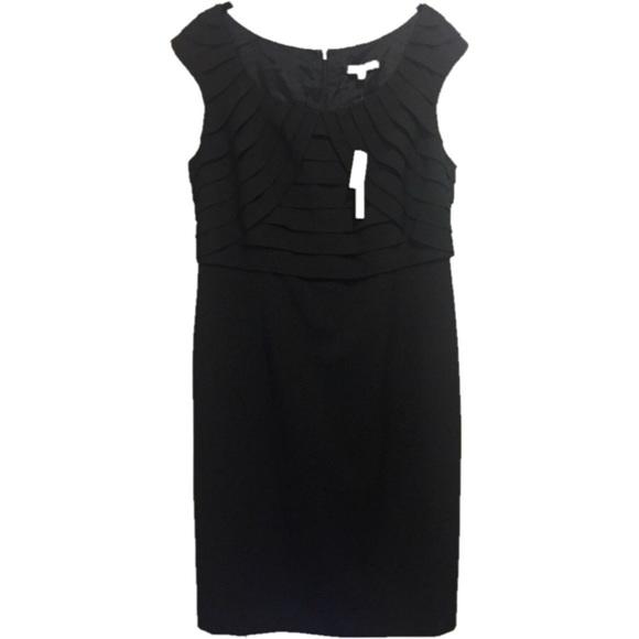 9313b57f0ad Adrienne Vittadini Black Tiered Top Dress 12 NWT!