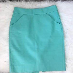 Tiffany Blue J.Crew Pencil Skirt
