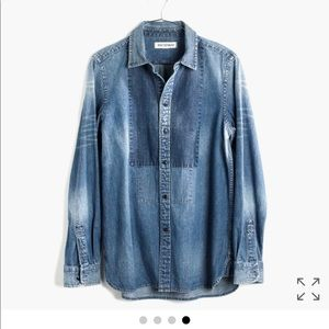 Madewell Rivet & Thread Tuxedo Chambray Shirt