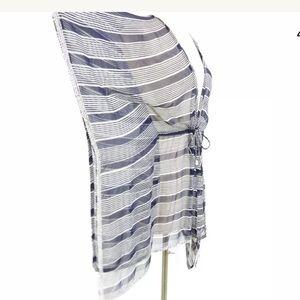 CALYPSO ST. BARTH Striped + Beaded Silk Coverup