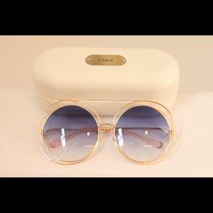 Blue Chloe Sunglasses Womens