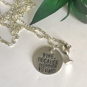 Jewelry - Wine for mama necklace
