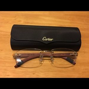 Cartier Wood C Decor Eyeglasses