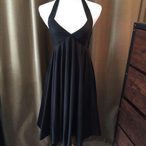 H&M LBD. Black Halter Dress, Sz 8.