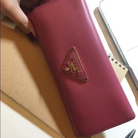 6a8cd902d2b0 Prada Bags   Saffiano Pink Wallet   Poshmark