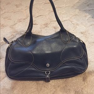 Pebbled Black Leather Cole Haan Bag