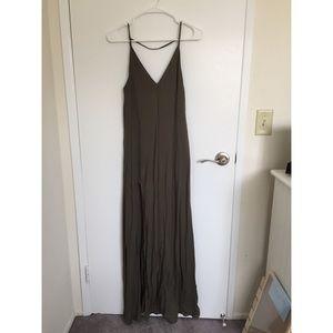Tobi Olive Green Maxi Dress w/ Slit