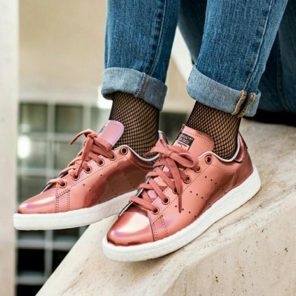 b58d67fe3320a FINAL Adidas Rose Copper Metallic Boost Stan Smith