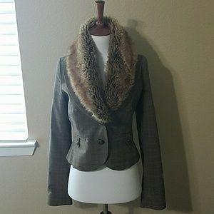 Guess Faux Fur Blazer