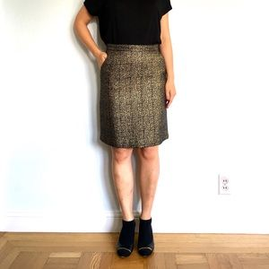 Tucker for Target Gold Brocade Skirt - Altered