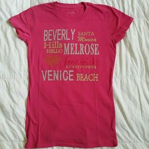 Pink Fredericks of hollywood tshirt