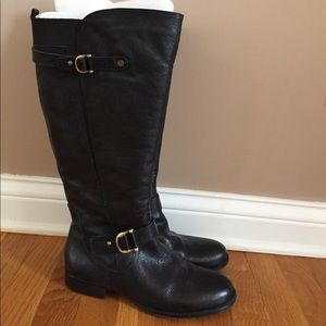 NEW NATURALIZER BLACK LEATHER BOOTS WIDE SHAFT