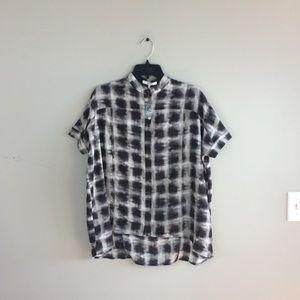 Ro&De NWOT Cap Sleeve Printed Blouse Top