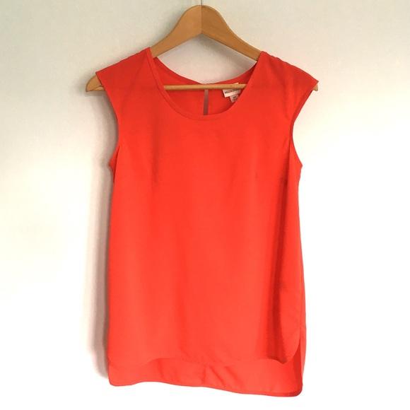 Merona Tops - Orange Sleeveless Keyhole Top ⭐️ NWOT