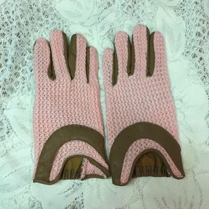 Pink & Brown ladies gloves